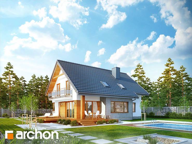 Projekt: Dom w aurorach: styl , w kategorii  zaprojektowany przez ARCHON+ PROJEKTY DOMÓW