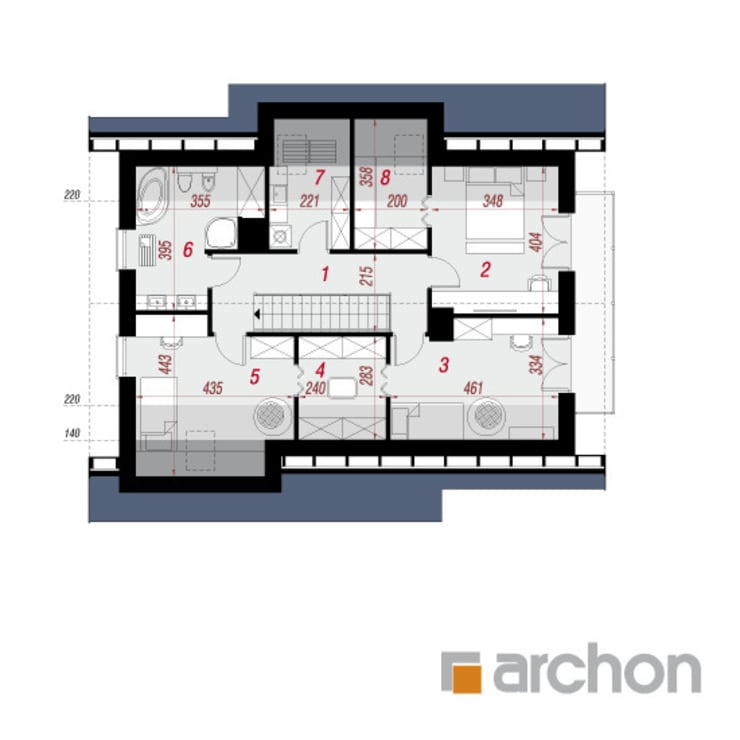 por ARCHON+ PROJEKTY DOMÓW