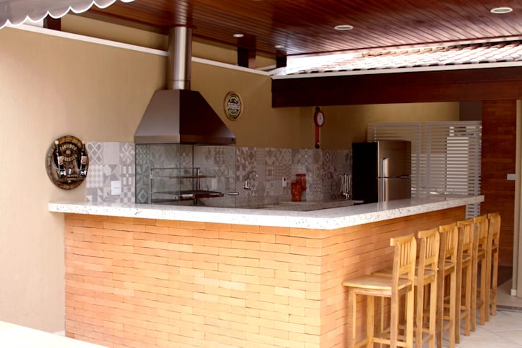 Área Gourmet: Espaços gastronômicos  por Alkaa Arquitetos Associados