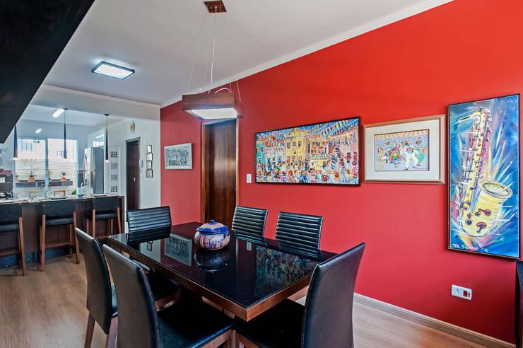 غرفة السفرة تنفيذ Patrícia Azoni Arquitetura + Arte & Design