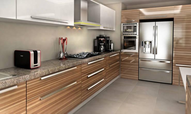 Cephe Çizimi – 3D Görselleştirme ve Sunum:  tarz Mutfak