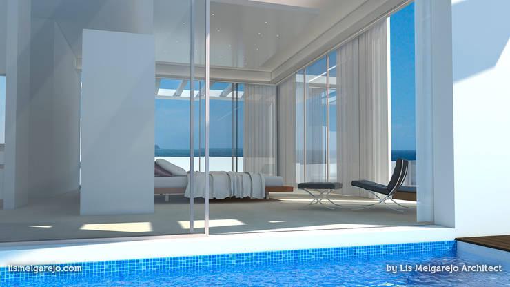 Residencia Luxury: Piscinas de estilo  de Lis Melgarejo Arquitectura