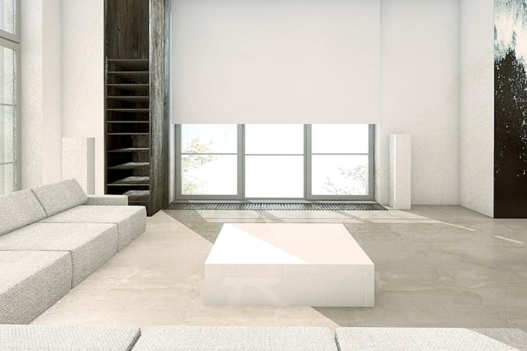 GLOSSY: styl , w kategorii Salon zaprojektowany przez PROSTO architekci,Minimalistyczny