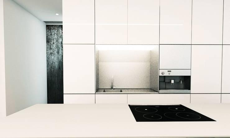 GLOSSY: styl , w kategorii Kuchnia zaprojektowany przez PROSTO architekci,Minimalistyczny