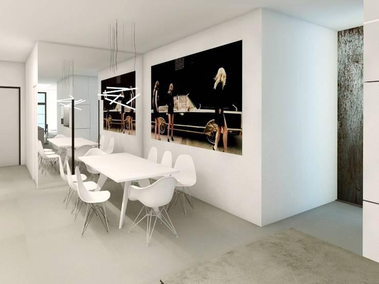 GLOSSY: styl , w kategorii Jadalnia zaprojektowany przez PROSTO architekci,Minimalistyczny