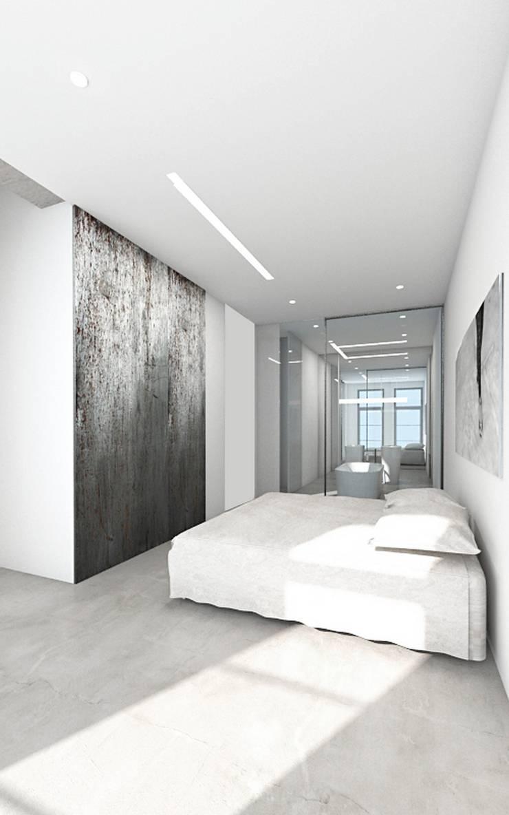 GLOSSY: styl , w kategorii Sypialnia zaprojektowany przez PROSTO architekci,Minimalistyczny