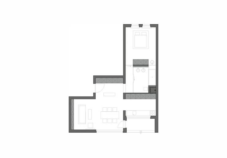 BLACK&WHITE: styl , w kategorii  zaprojektowany przez PROSTO architekci