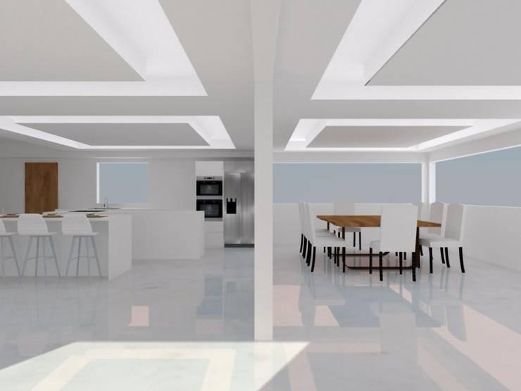 COCINA: Cocinas de estilo moderno por ARCE MOBILIARIO