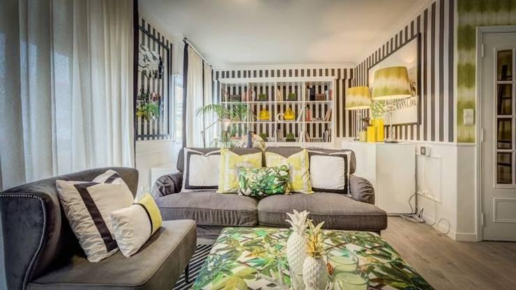 Blanco Interiores - Projecto Habitação: Salas de estar modernas por Blanco Interiores
