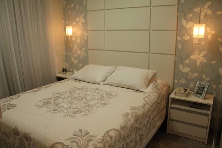 Projeto Residencial Casal Classico: Quartos  por Amanda Baye Arquitetura de Interiores
