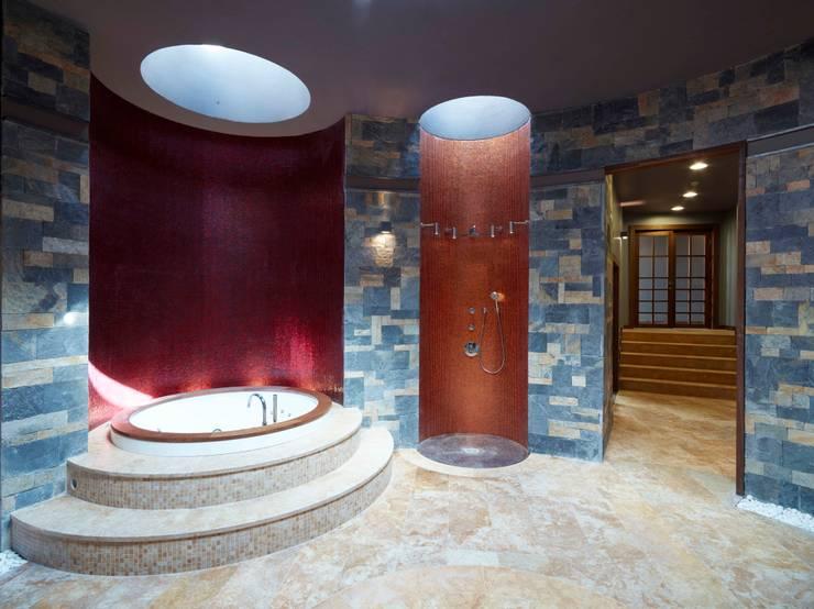 Pimodek Mimari Tasarım - Uygulama – Çamlıca'da Villa: kırsal tarz tarz Spa