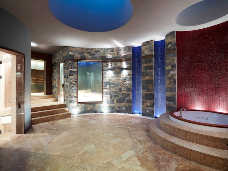 Pimodek Mimari Tasarım - Uygulama – Çamlıca'da Villa:  tarz Spa, Kırsal/Country