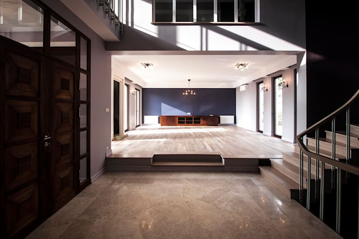Pimodek Mimari Tasarım - Uygulama – KUMBURGAZ'DA VİLLA: kırsal tarz tarz Oturma Odası