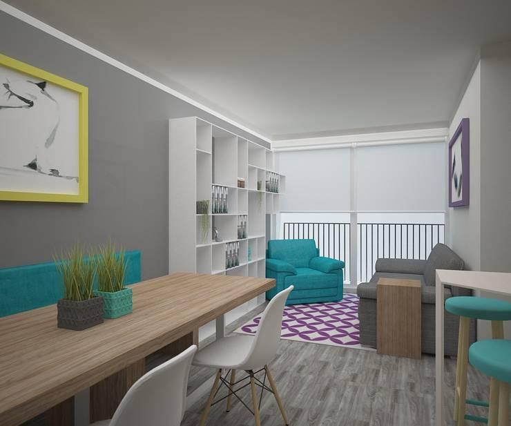 Comedor y Sala: Comedores de estilo  por Teorema Arquitectura
