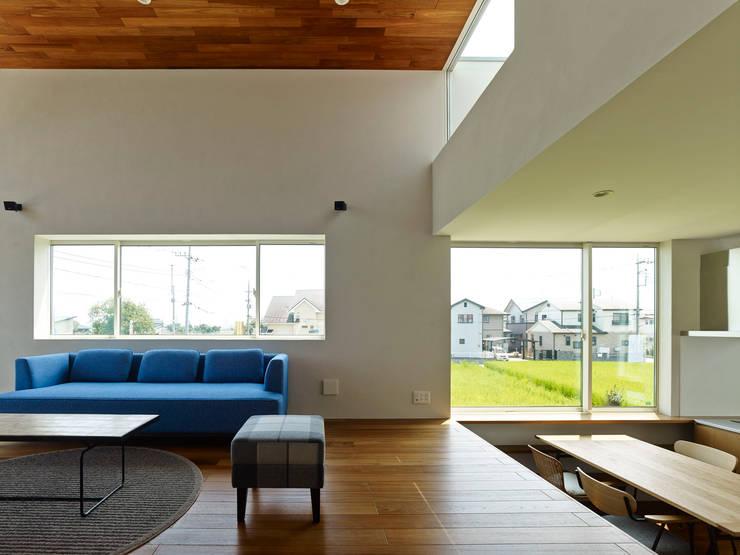 Projekty,  Salon zaprojektowane przez 小野里信建築アトリエ