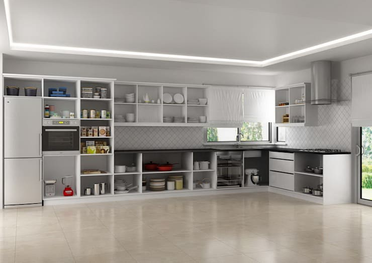 3D MİMARİ – MUTFAK ÇALIŞMALARI:  tarz Mutfak