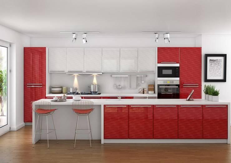 3D MİMARİ – MUTFAK ÇALIŞMALARI: modern tarz Mutfak