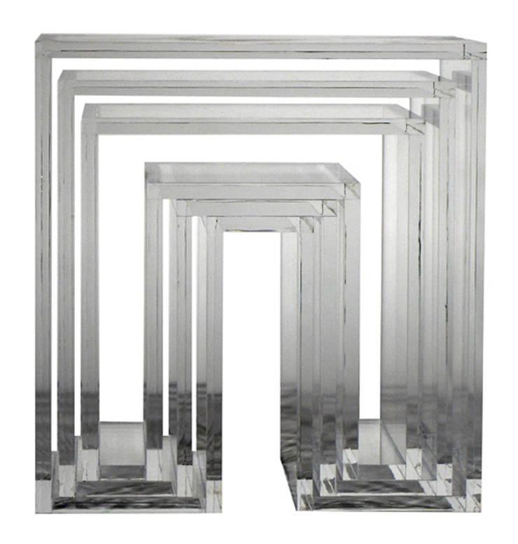 SHOJI – Nesting Tables: abode Co., Ltd.が手掛けたリビングルームです。
