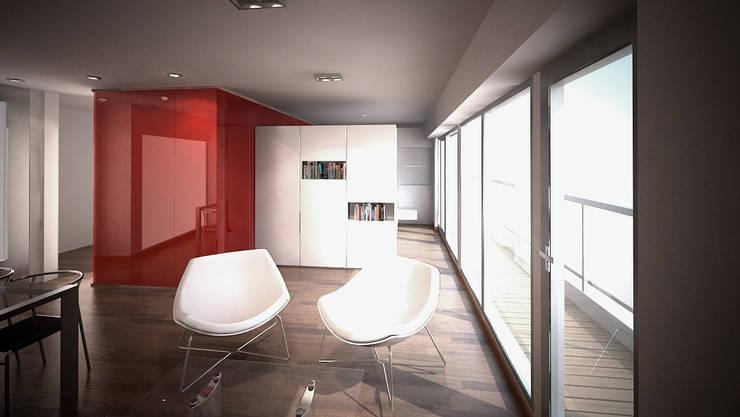 Living room by ARQUITECTURA EN IMÁGENES, Minimalist