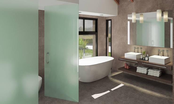 Imagen fotorrealista de interior de baño:  de estilo  por ARQUITECTURA EN IMÁGENES