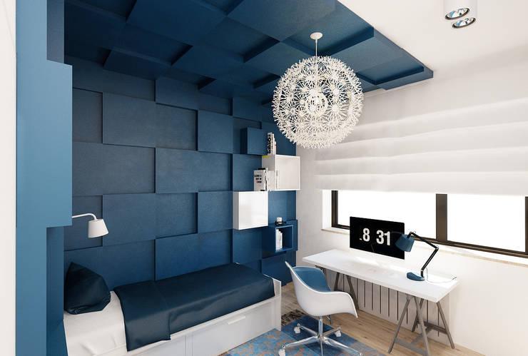 Pokój nastolatki Pokój nastolatki : styl , w kategorii Pokój dziecięcy zaprojektowany przez Ale design Grzegorz Grzywacz,Minimalistyczny