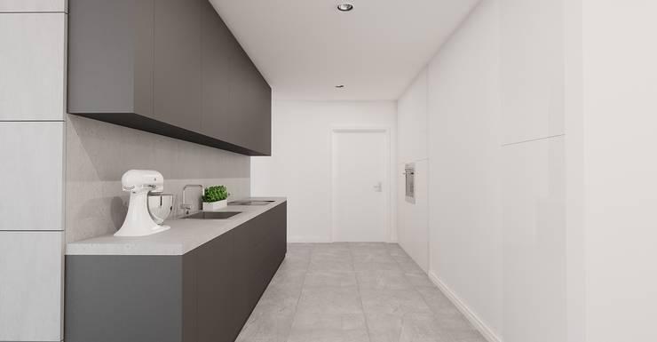 Apartament Bielsko-Biała: styl , w kategorii Kuchnia zaprojektowany przez Ale design Grzegorz Grzywacz
