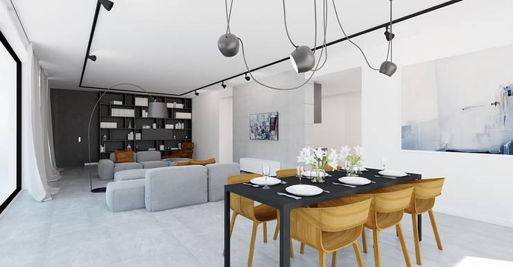 Apartament Bielsko-Biała: styl , w kategorii Salon zaprojektowany przez Ale design Grzegorz Grzywacz