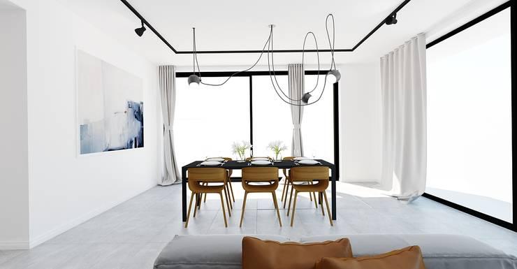 Apartament Bielsko-Biała: styl , w kategorii Jadalnia zaprojektowany przez Ale design Grzegorz Grzywacz