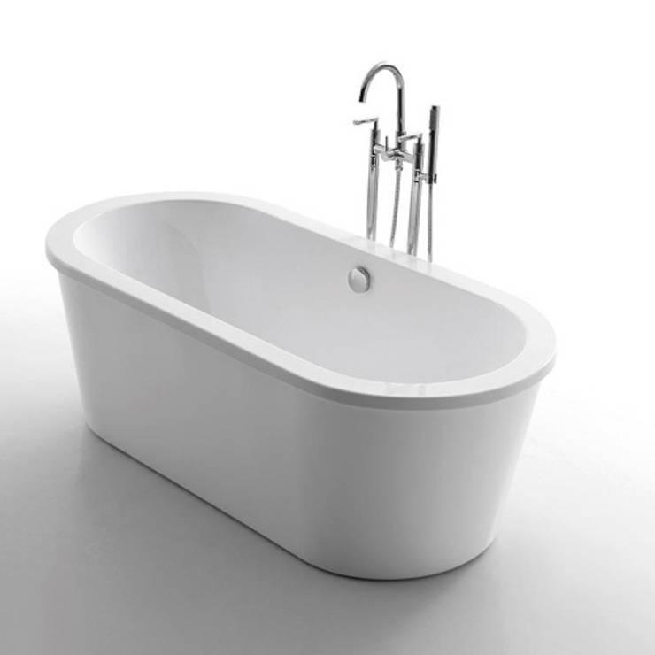 Tina minimalista Vita: Baños de estilo  por Oikos Design