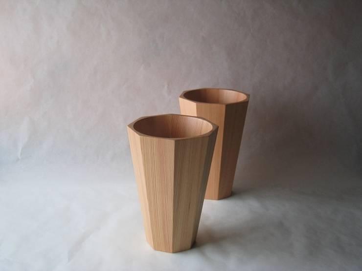 花器 4寸 面取り: 清水桶屋が手掛けた家庭用品です。