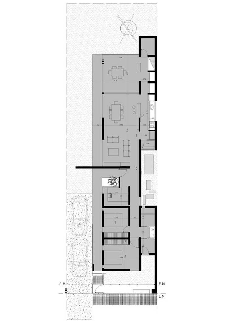 Casa Habiaga-Morel:  de estilo  por punto2,Moderno