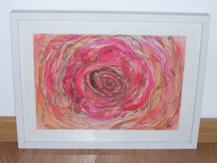 Rosa en acuarela: Arte de estilo  por Adriana Filei