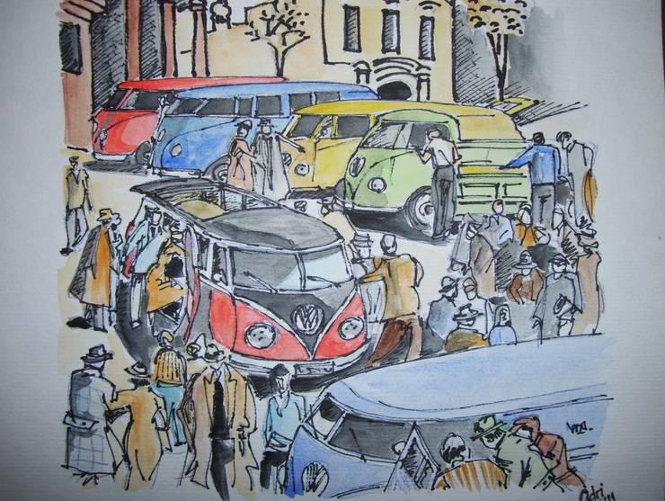 VW en acuarela: Arte de estilo  por Adriana Filei