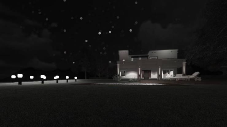 Casa del Lago:  de estilo  por qubo estudio,