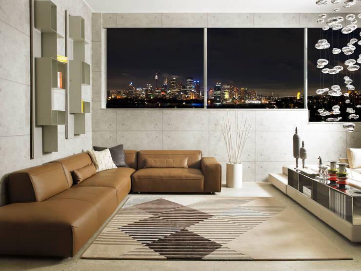 [디자인카페트,북유럽인테리어,정사각러그] KARO: CAURA CARPET의  벽 & 바닥