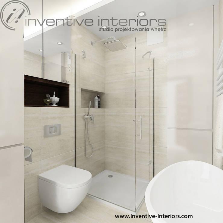 Jasna niewielka łazienka: styl , w kategorii Łazienka zaprojektowany przez Inventive Interiors,Nowoczesny