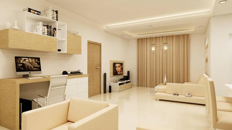 PRESTIGE GARDEN BAY, YELAHANKA, BANGALORE. (www.depanache.in): modern Study/office by De Panache  - Interior Architects