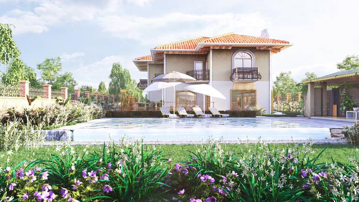 GRNT3D – villa 01: klasik tarz tarz Bahçe