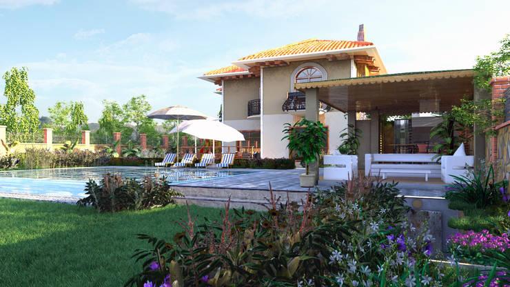 GRNT3D – villa 02: klasik tarz tarz Bahçe