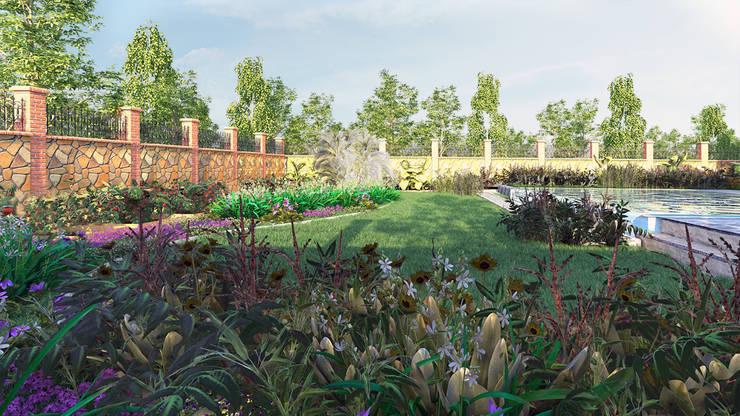 GRNT3D – villa 03: klasik tarz tarz Bahçe