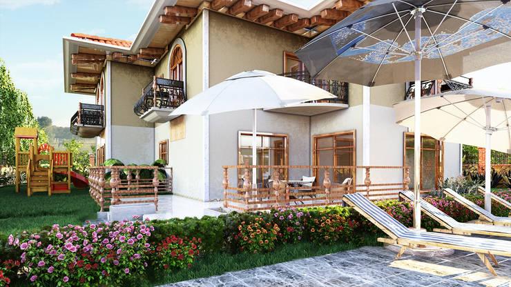 GRNT3D – villa 04: klasik tarz tarz Bahçe