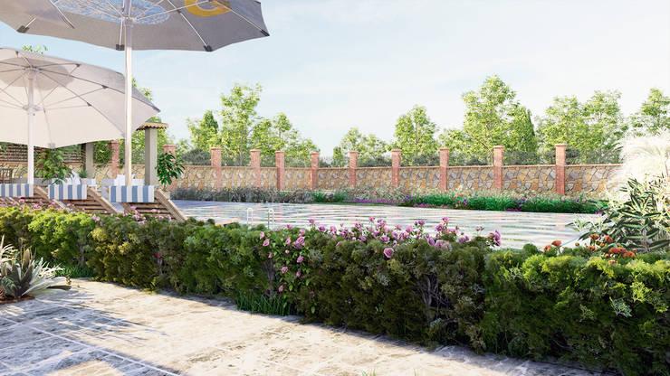 GRNT3D – villa 06: klasik tarz tarz Bahçe