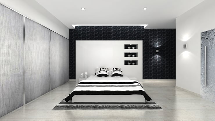 RESIDENTIAL INTERIOR, MYSORE. (www.depanache.in):  Bedroom by De Panache  - Interior Architects