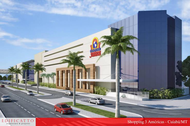 Reforma Fachada Shopping 3 Américas:   por EDIFICATTO ARQUITETURA E INTERIORES