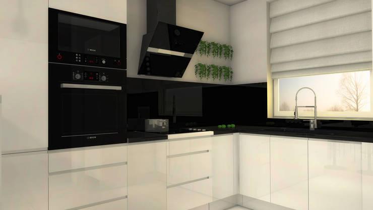 Black&White Kitchen: styl , w kategorii Kuchnia zaprojektowany przez Arch/tecture,Nowoczesny
