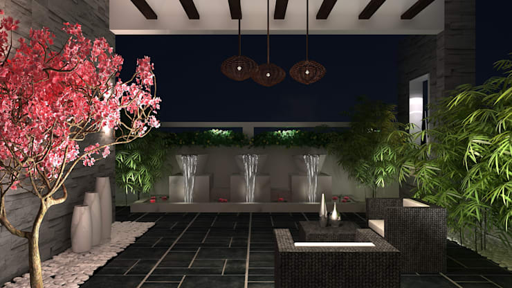 RESIDENTIAL INTERIOR, MYSORE. (www.depanache.in):  Terrace by De Panache  - Interior Architects