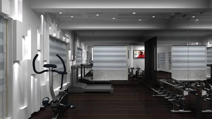 RESIDENTIAL INTERIOR, MYSORE. (www.depanache.in):  Gym by De Panache  - Interior Architects