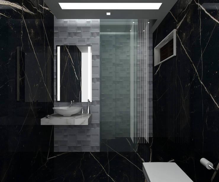 RESIDENTIAL INTERIOR, MYSORE. (www.depanache.in):  Bathroom by De Panache  - Interior Architects