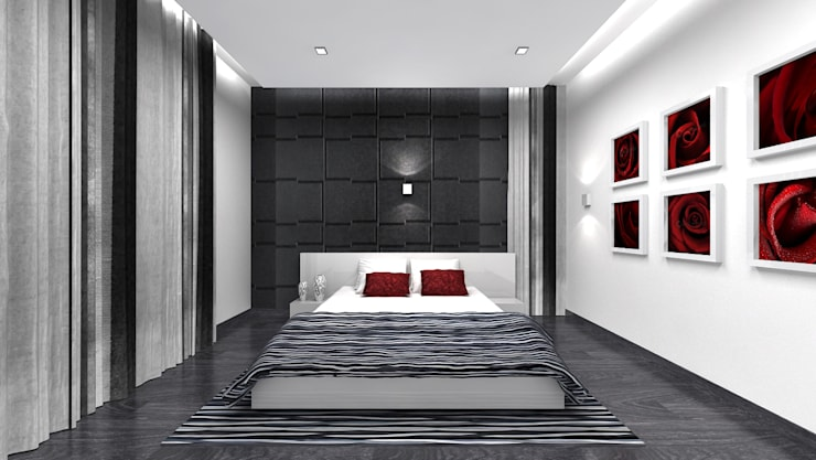 RESIDENTIAL INTERIOR, MYSORE. (www.depanache.in):  Bedroom by De Panache  - Interior Architects
