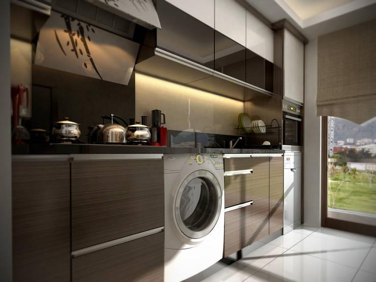ömer kavak mühendislik ve danışmanlık hizmetleri – össe homes iç mekan:  tarz Mutfak